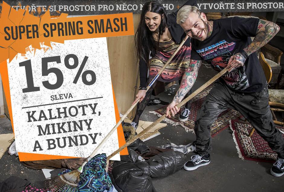 15% sleva KALHOTY, MIKINY a BUNDY