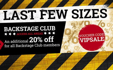 20% EXTRA! Exclusively for theBackstage Club!