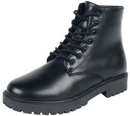 Černé podšité boty na šněrování
