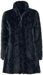 Kabát s imitaci kožešiny