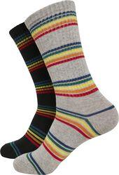 Balení 2 párů ponožek s duhovými proužky