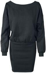 Dámské teplákové šaty s odhaleným ramenem