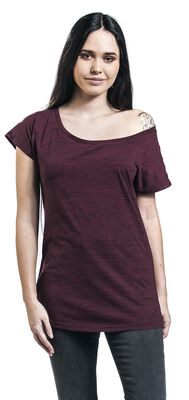 Fialové tričko s žíhaným vzhledem