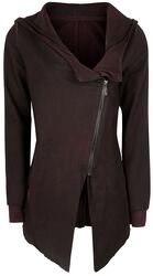 Kabát s asymetrickým vintage zipem