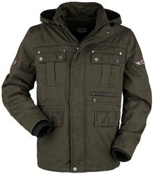 Green Between-Seasons Jacket with Removable Hood