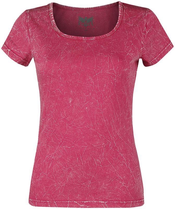 Růžové tričko s pokrčeným efektem
