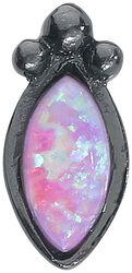 Piercing Black Rosa Bindi Opal