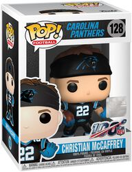 Vinylová figurka č. 128 Carolina Panthers - Christian McCaffrey