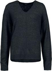 Dámský pulovr s Véčkovým výstřihem