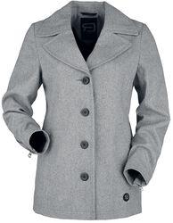 Short Grey Button-Up Coat