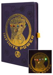 Zápisník s LED světýlkami Infinity War - Gauntlet