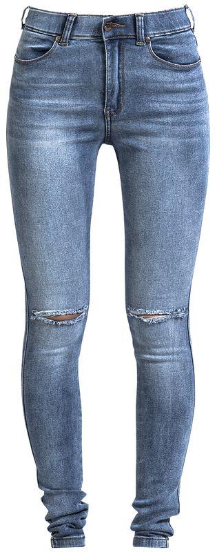 Džíny Lexy s díry na kolenou