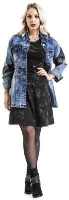 Rocková denimová bunda