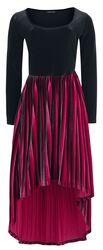 Sametové šaty Black Widow