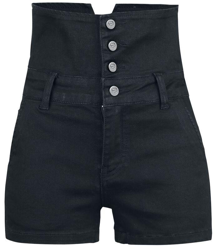Denimové šortky s vysokým pásem
