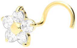 Piercing do nosu Real Gold Crystal Flower