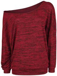 Oversize žíhaný svetr se širokým límcem