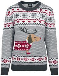 Dámský vánoční svetr Sausage Dog