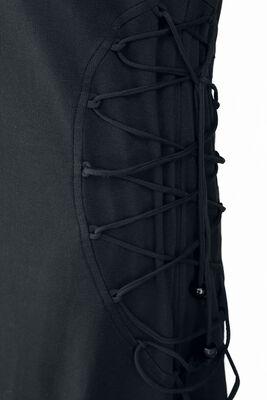 Černé šaty s kapucí