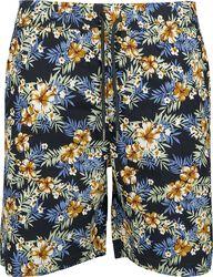 Vzorované šortky Hibiscus