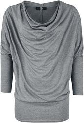 Košile s dlouhými rukávy a padavým límcem