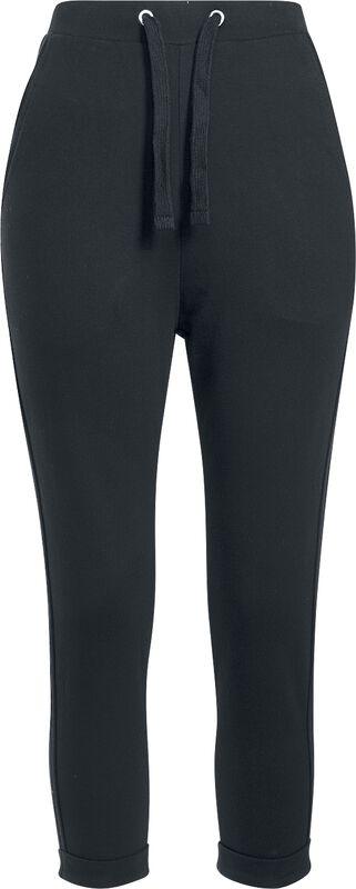 Dámské teplákové kalhoty s neukončenými lemy a zahnutými manžety