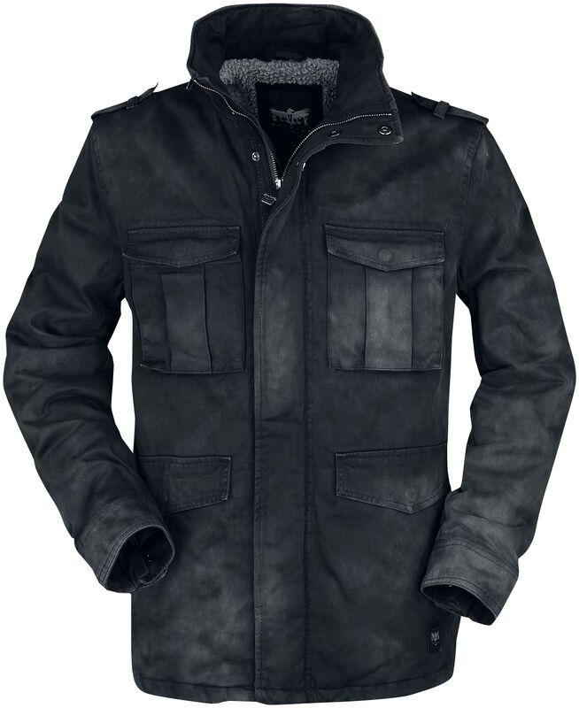 Zimní bunda s opraným a obnošeným efektem