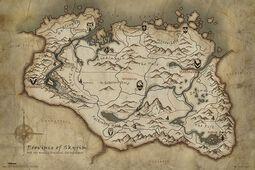 Mapa Skyrim