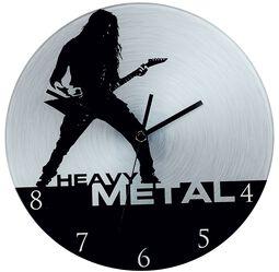 Skleněné nástěnné hodiny Heavy Metal