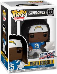 Vinylová figurka č. 123 Los Angeles Chargers - Melvin Gordon III