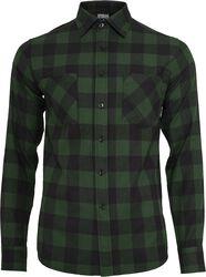 Flanelová kostkovaná košile
