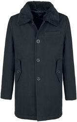 Kabát s kožešinkovým límcem Manhattan