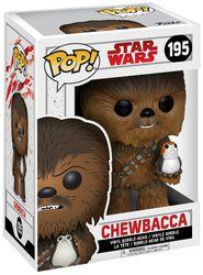 Vinylová figurka s pohyblivou hlavou č. 195 Episode 8 - The Last Jedi - Chewbacca s Porgem