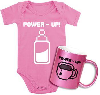 Dětské body + hrnek Power Up!