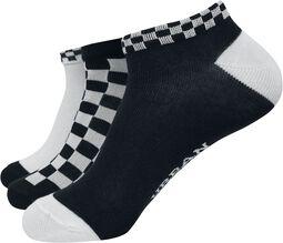 Balení 3 párů kostkovaných ponožek do tenisek