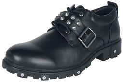 Černé creepers boty s nýty