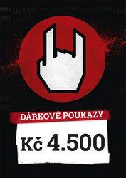 Nákupní a dárkové poukazy 4.500 CZK