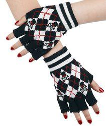 Tartanové rukavice bez prstů
