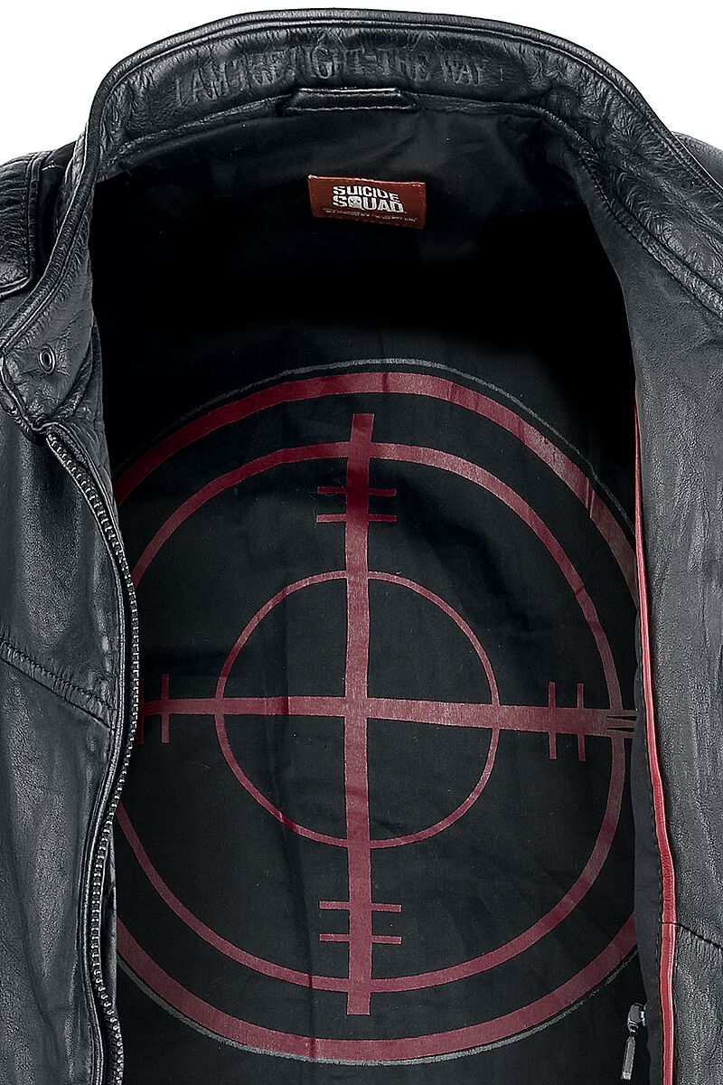 08ebfc9cfad Deadshot. Kožená bunda