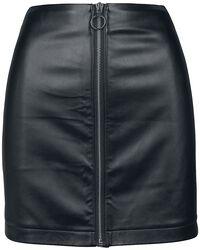Dámská sukně z imitace kůže se zipem