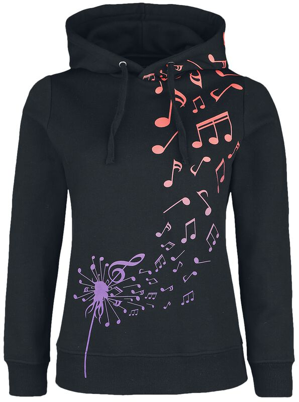 Black Hoodie with Colourful Print