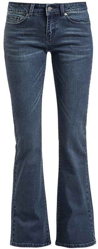 Tmavomodré džínsy s rozšírenými nohavicami Grace