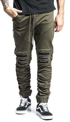 Ležérní kapsáčové kalhoty s motorkářskými detaily