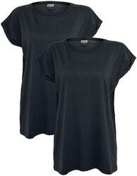 Balení 2 ks dámských triček s rozšířenými rameny