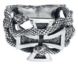Prsten se železným křížem a hady