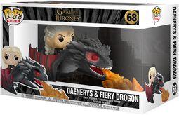 Vinylová figurka č. 68 POP Rides Daenerys and Fiery Drogon