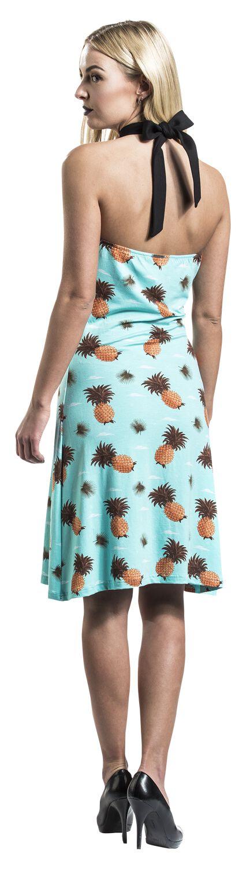 f7ed7642efbc Šaty se zavazováním kolem krku Pineapple