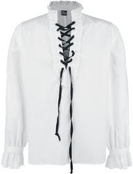 Košile s řasením a šněrováním