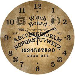 Skleněné nástěnné hodiny Ouija