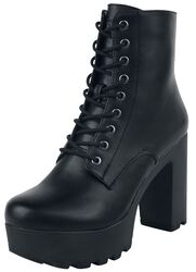 Black Low Boots with Platform Sole